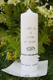 schlichte Hochzeitskerze 753