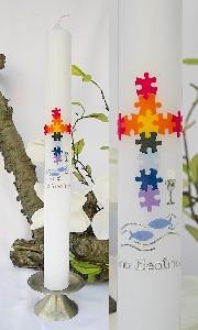 Kommunionkerze Regenbogen / Puzzle 483