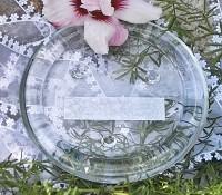 Kerzenteller Glas